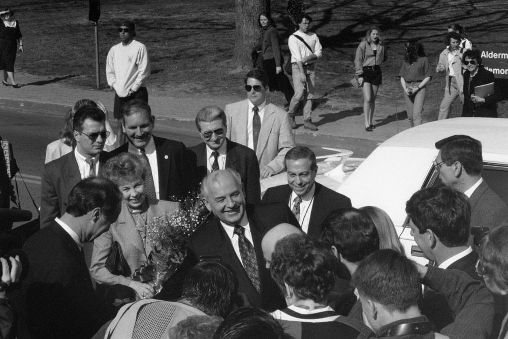 Mikhail Gorbachev visiting UVA