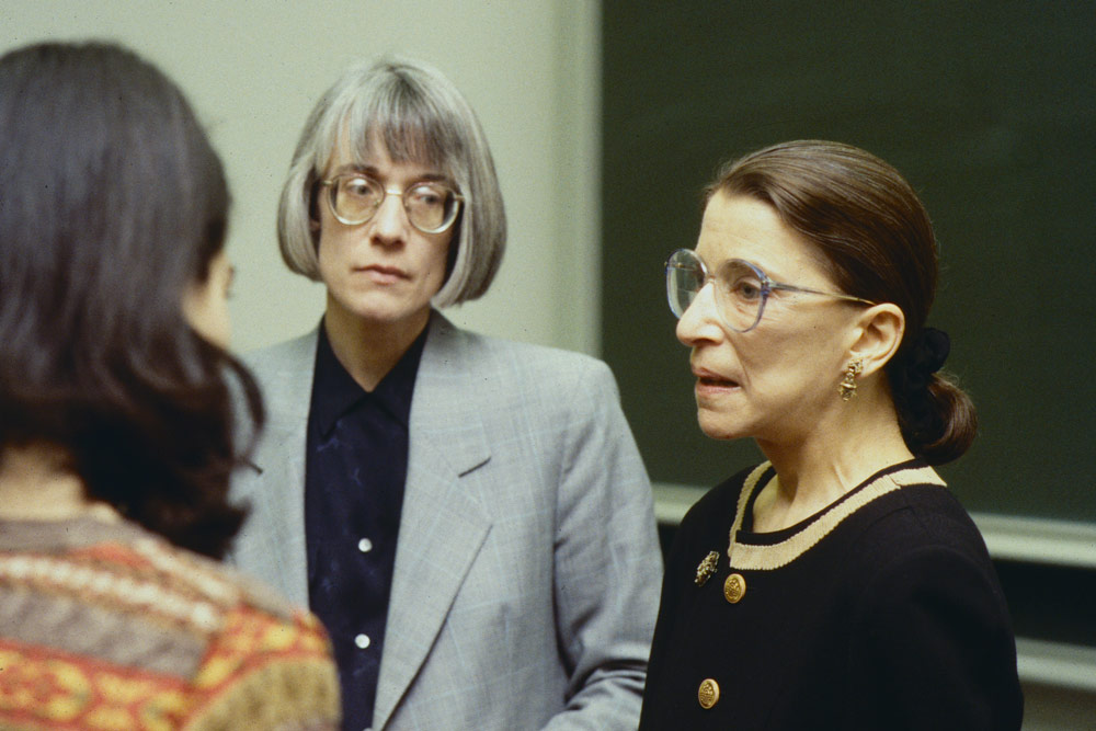 Ruth Bader Ginsburg (right) with UVA law professor Anne Coughlin