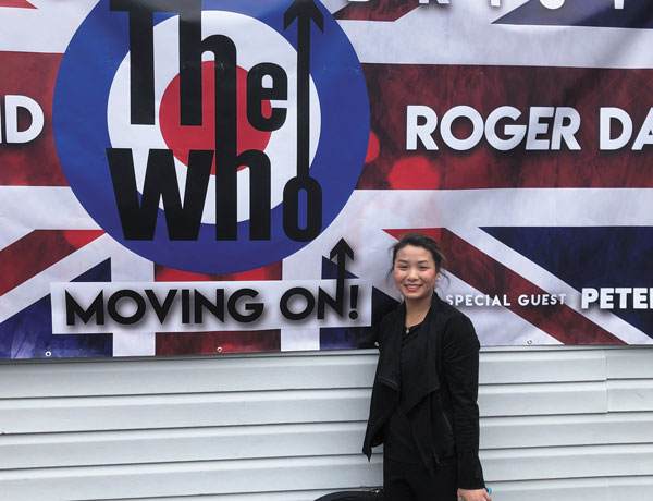 Student violinist plays with The Who