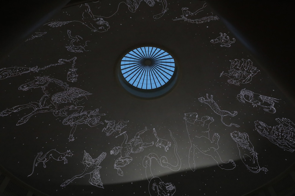 Constellations projected onto the ceiling of the Rotunda dome
