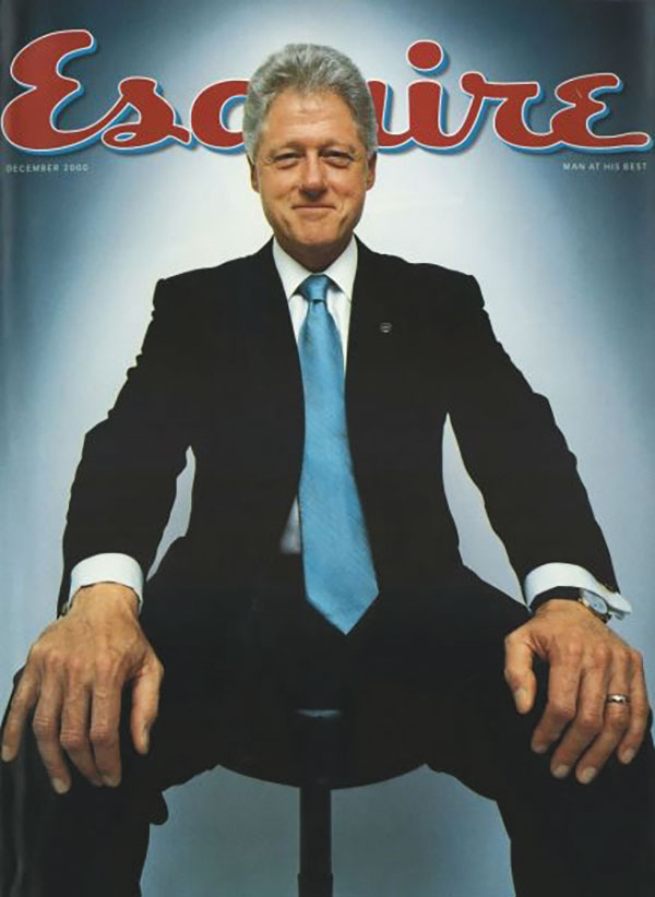 Cover of Esquire magazine featuring Bill Clinton