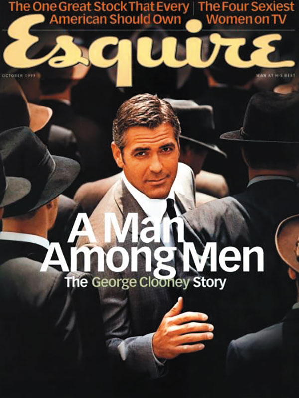 Cover of Esquire magazine featuring George Clooney