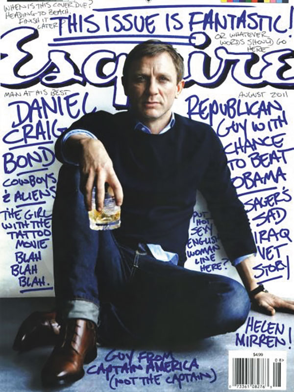 Cover of Esquire magazine featuring Daniel Craig