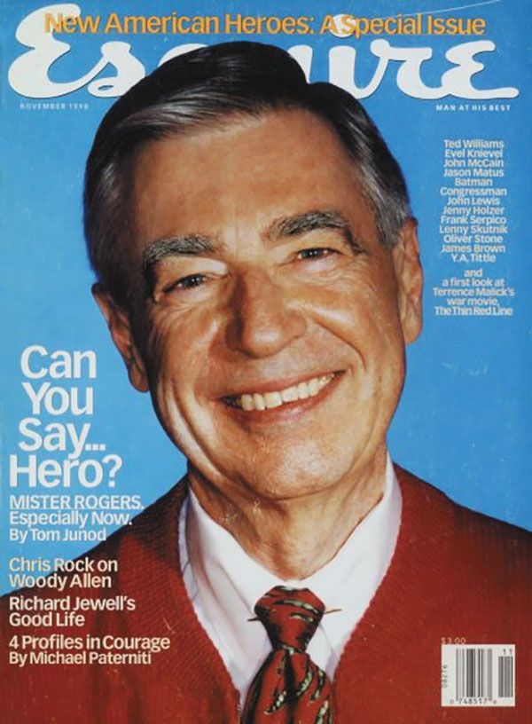 Cover of Esquire magazine featuring Fred Rogers