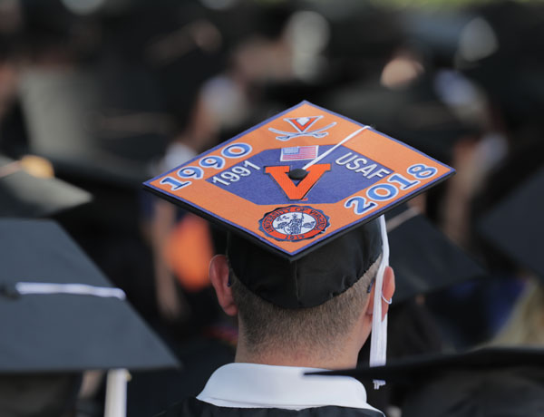 Mortarboard messages stand out from the crowds
