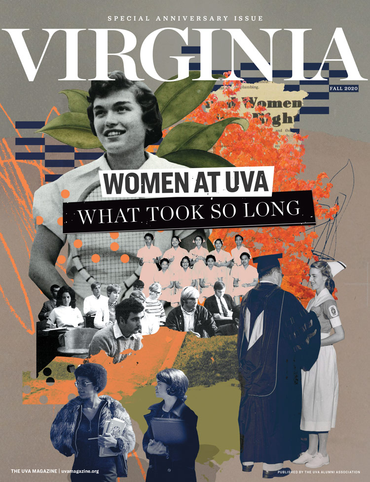 Cover of the Fall 2020 issue of VIRGINIA Magazine, celebrating women at UVA