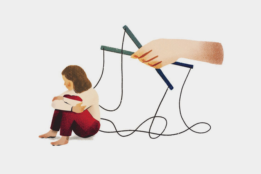 Illustration depicting a child
