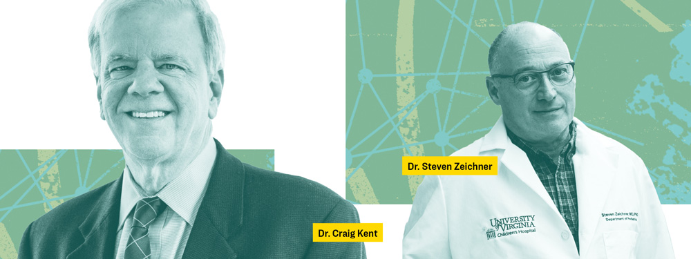 Dr. Craig Kent (left) and Dr. Steven Zeichner