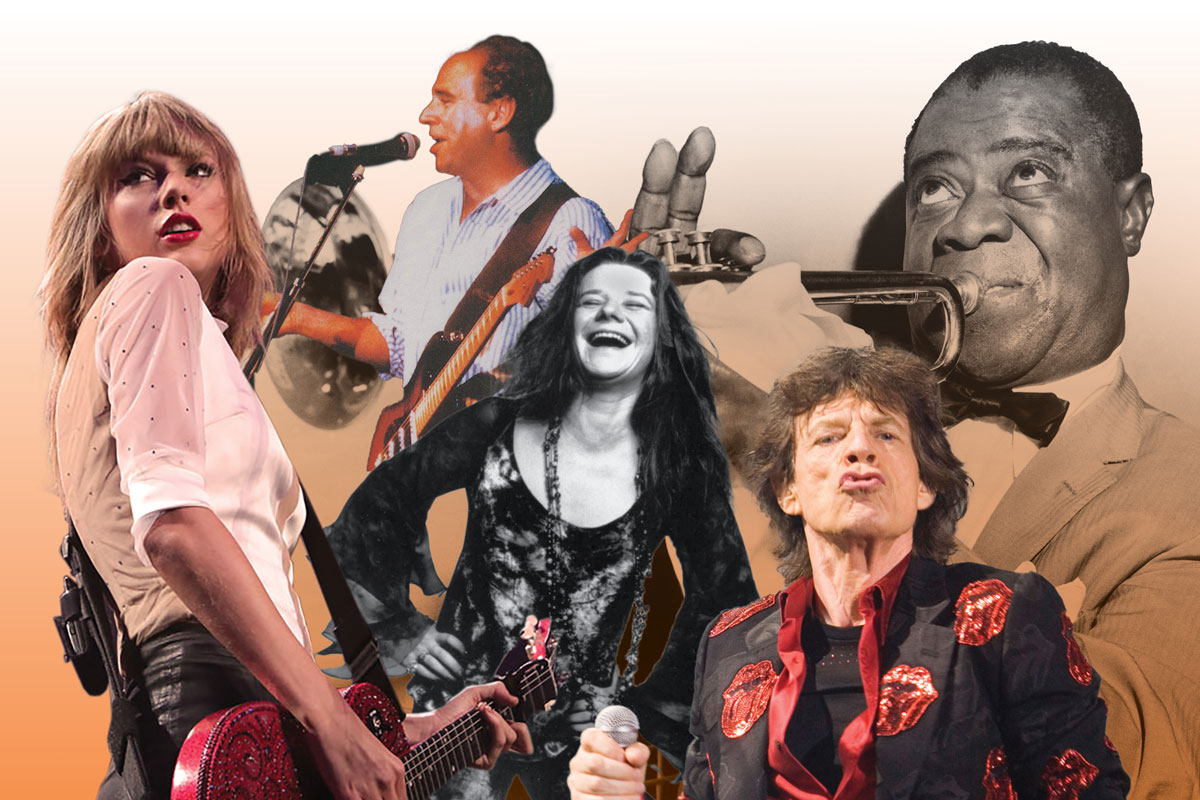 Collage of musicians who performed at UVA