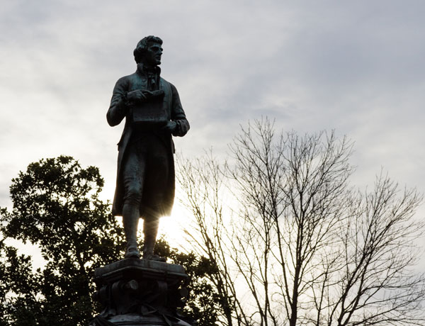 Statue of Thomas Jefferson. UVA appointed a group to reassess names and memorials on Grounds.