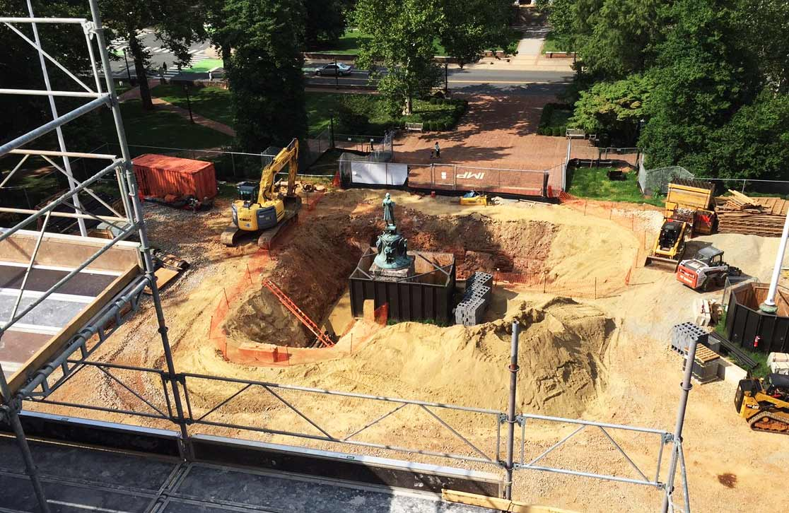 Rotunda Restoration Progress, July 20 2015