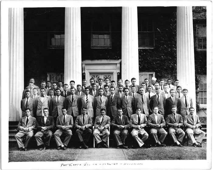 Phi Kappa Sigma Fraternity at the University of Virginia (1946-1947)