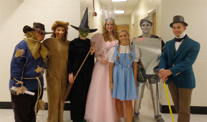The Wizard of Oz in Gilmer Hall