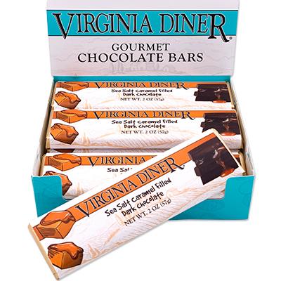 Sea Salt Caramel Chocolate Bars, Dark Chocolate