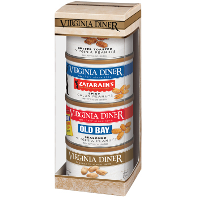 Tower of Traditions Peanut Gift Set- Salted, Cajun, Butter Toasted, Old Bay®