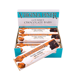 Sea Salt Caramel Chocolate Bars, Dark Chocolate 12 bars