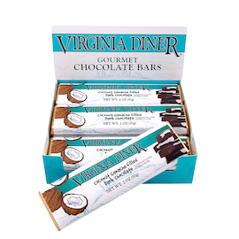 Coconut Chocolate Bars, Dark Chocolate 12 bars