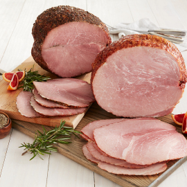 Whole Boneless Peppered Ham