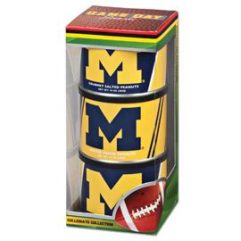 University of Michigan Game Day Triplet (2 Salt, 1 BT Peanuts)