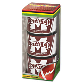 Mississippi State Game Day Triplet (3 Salted Peanuts)