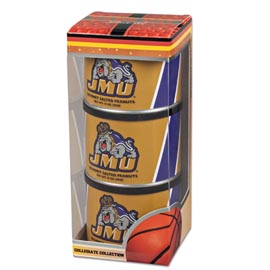 James Madison Basketball Triplet (3 Salted Peanuts)
