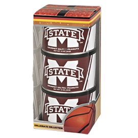 Mississippi State Basketball Triplet (3 Salted Peanuts)