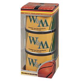 William & Mary Basketball Triplet (3 Salted Peanuts)