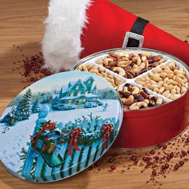 Christmas Mail Gift Tin