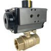 Air Actuated Brass Ball Valves- Rack & Pinion