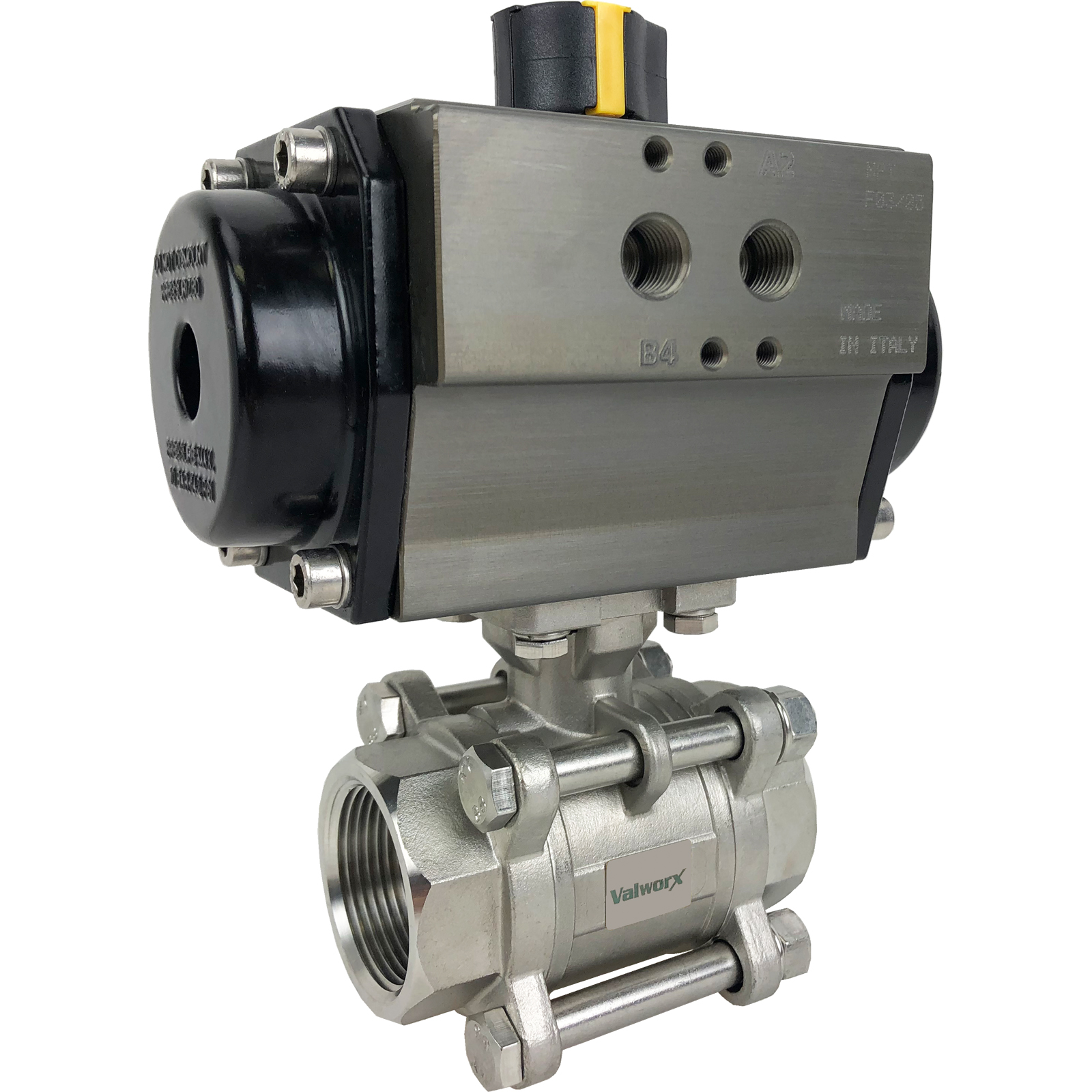 """1-1/4"""" Air Actuated 3-pc Stainless Ball Valve - Double Acting"""