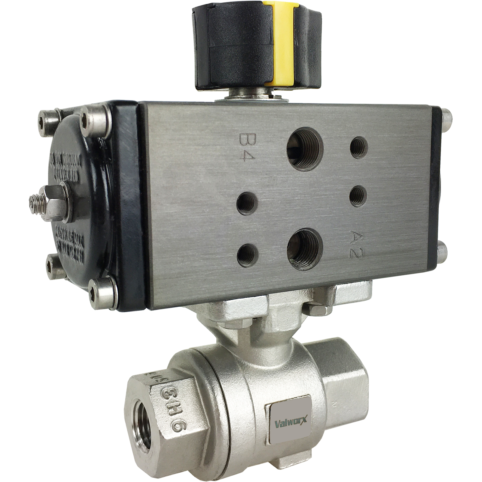 """1/4"""" Compact Air Actuated SS Ball Valve - Double Acting"""