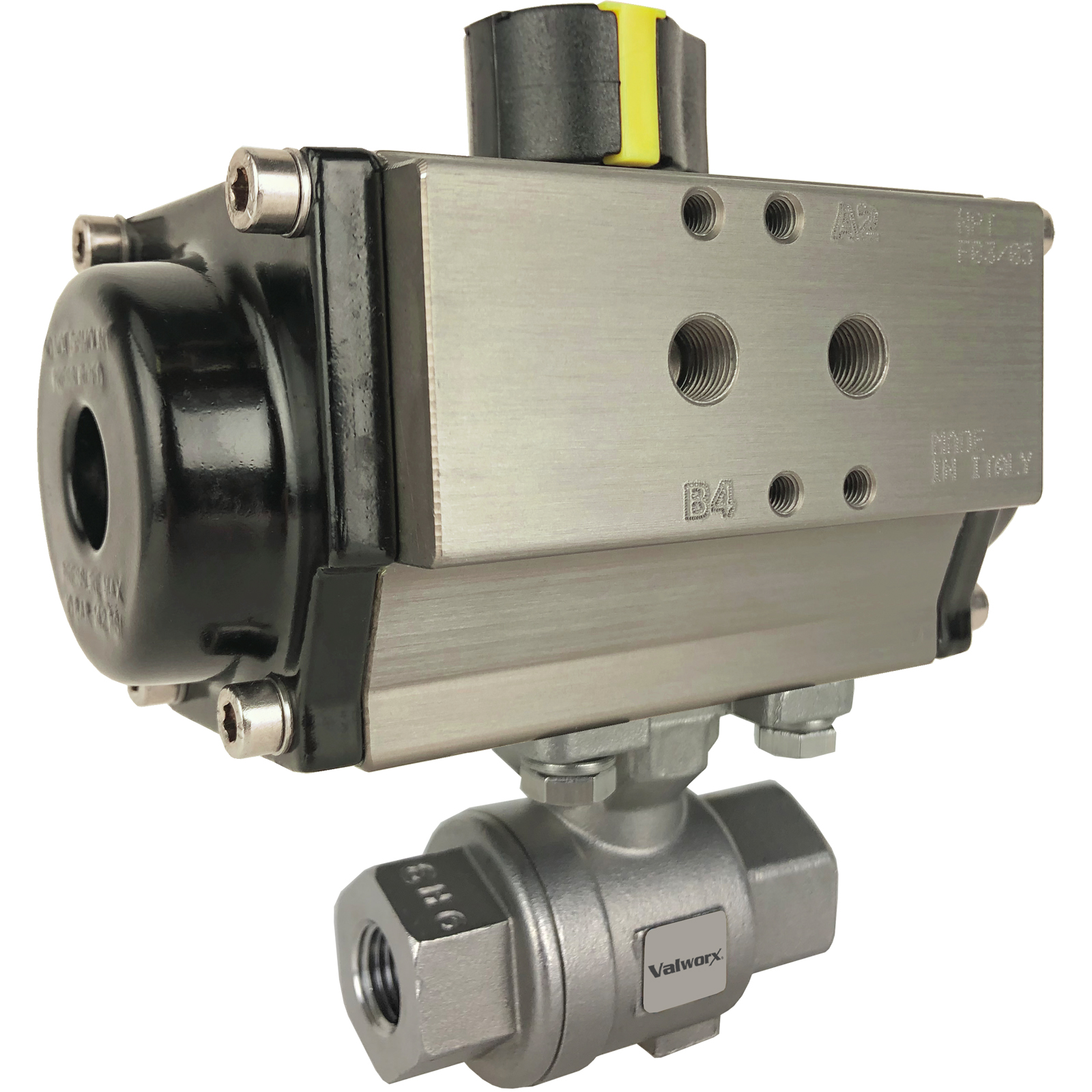 """1/4"""" Air Actuated Stainless Ball Valve - Double Acting"""