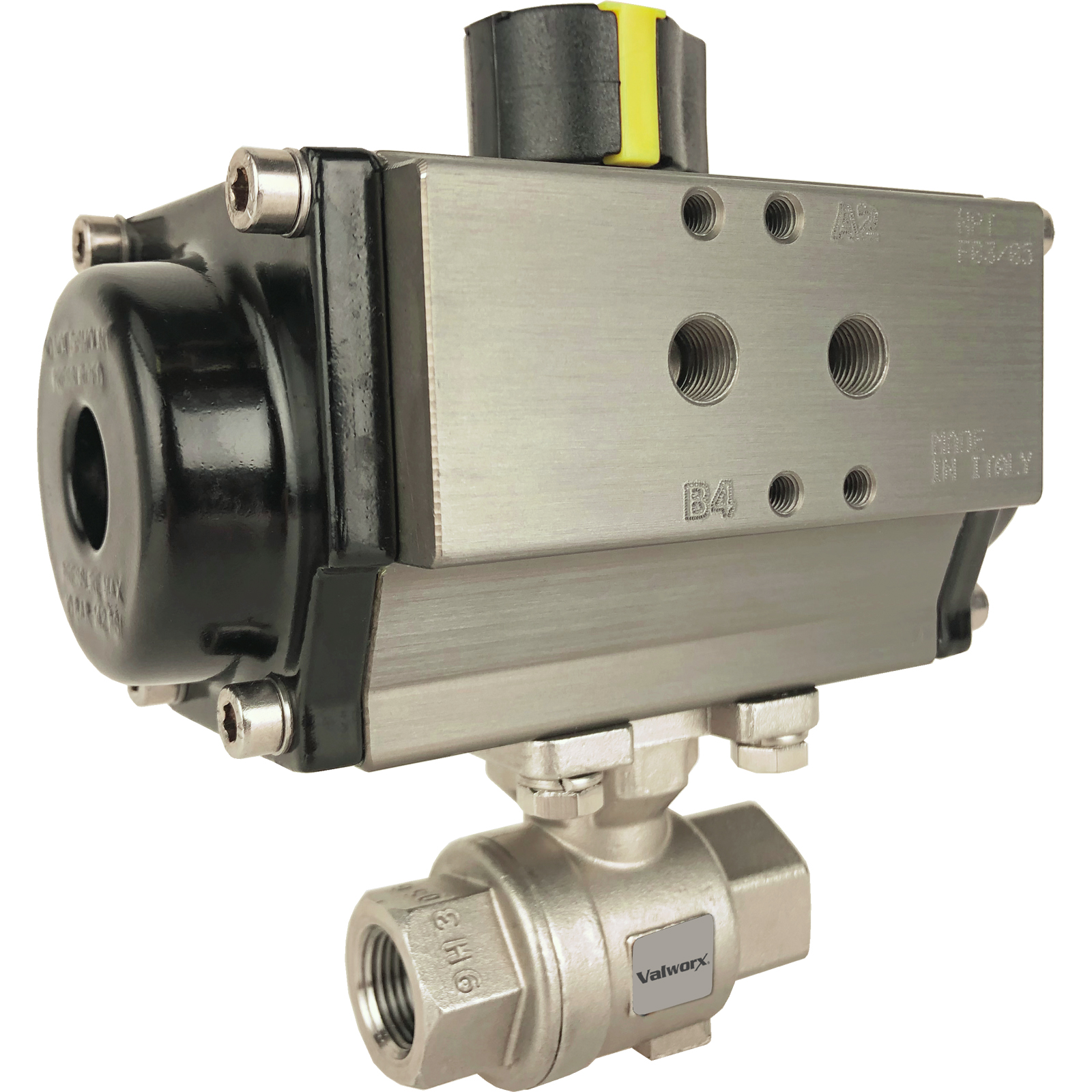 """3/8"""" Air Actuated Stainless Ball Valve - Double Acting"""