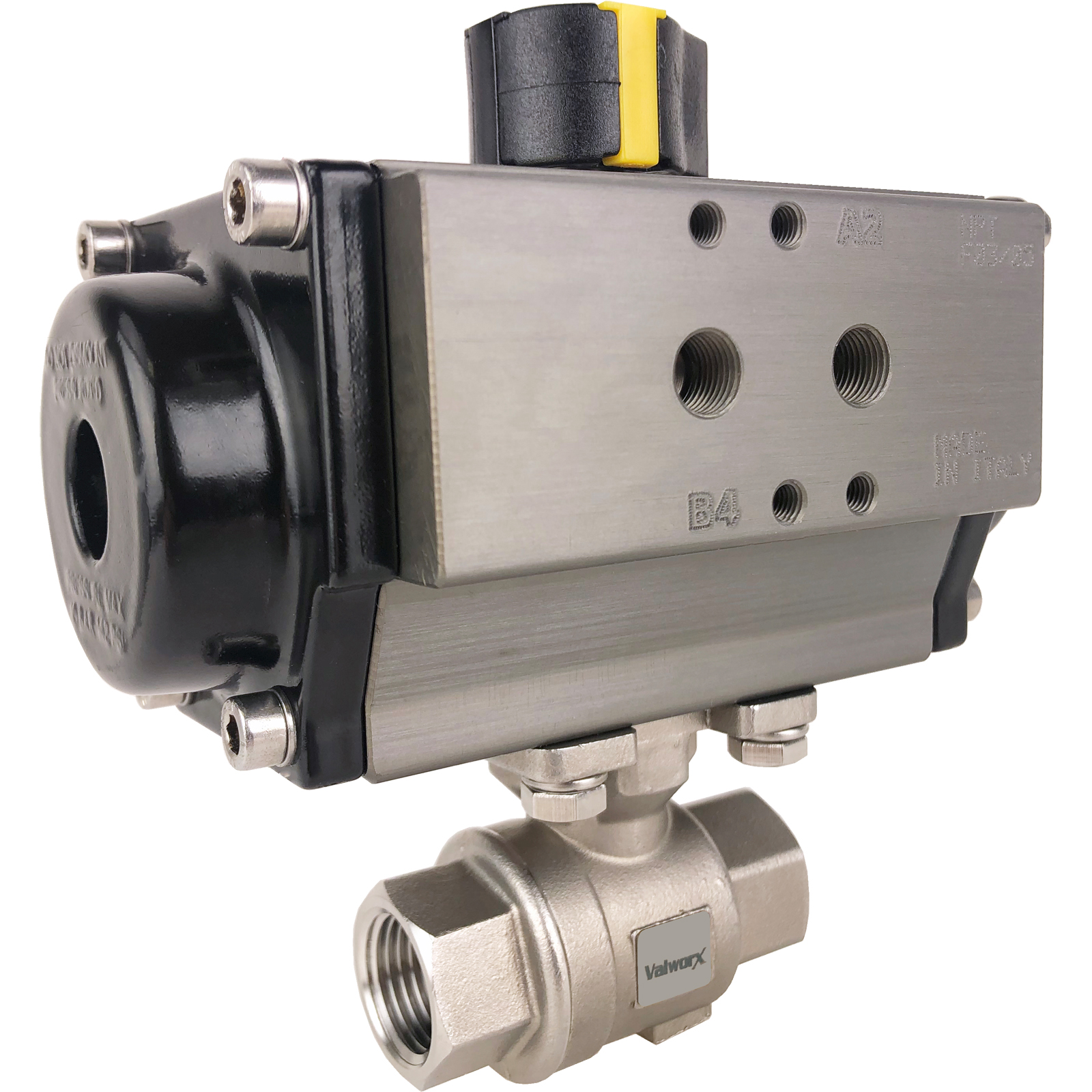 """1/2"""" Air Actuated SS Ball Valve - Double Acting"""