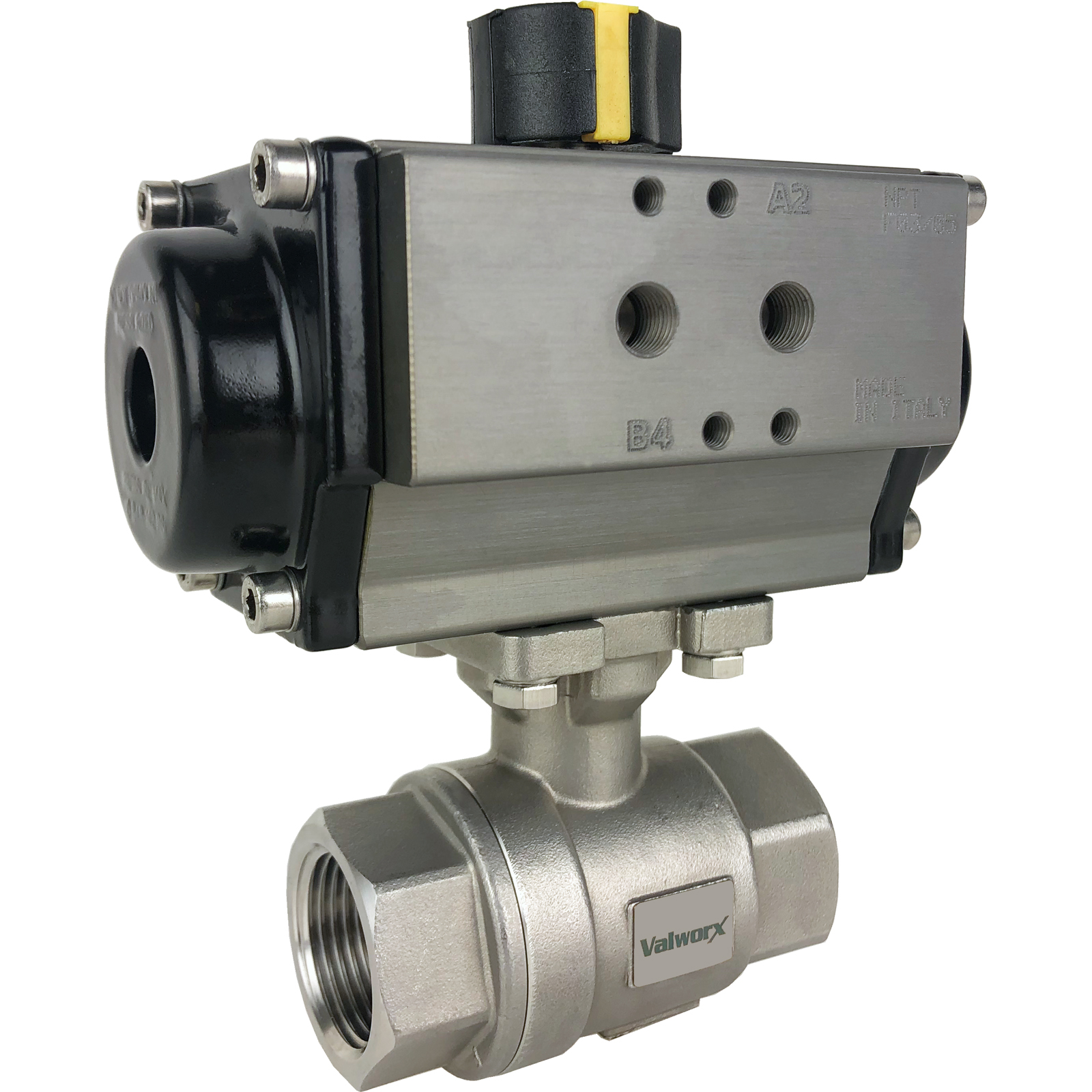 """1"""" Air Actuated Stainless Ball Valve - Spring Return"""
