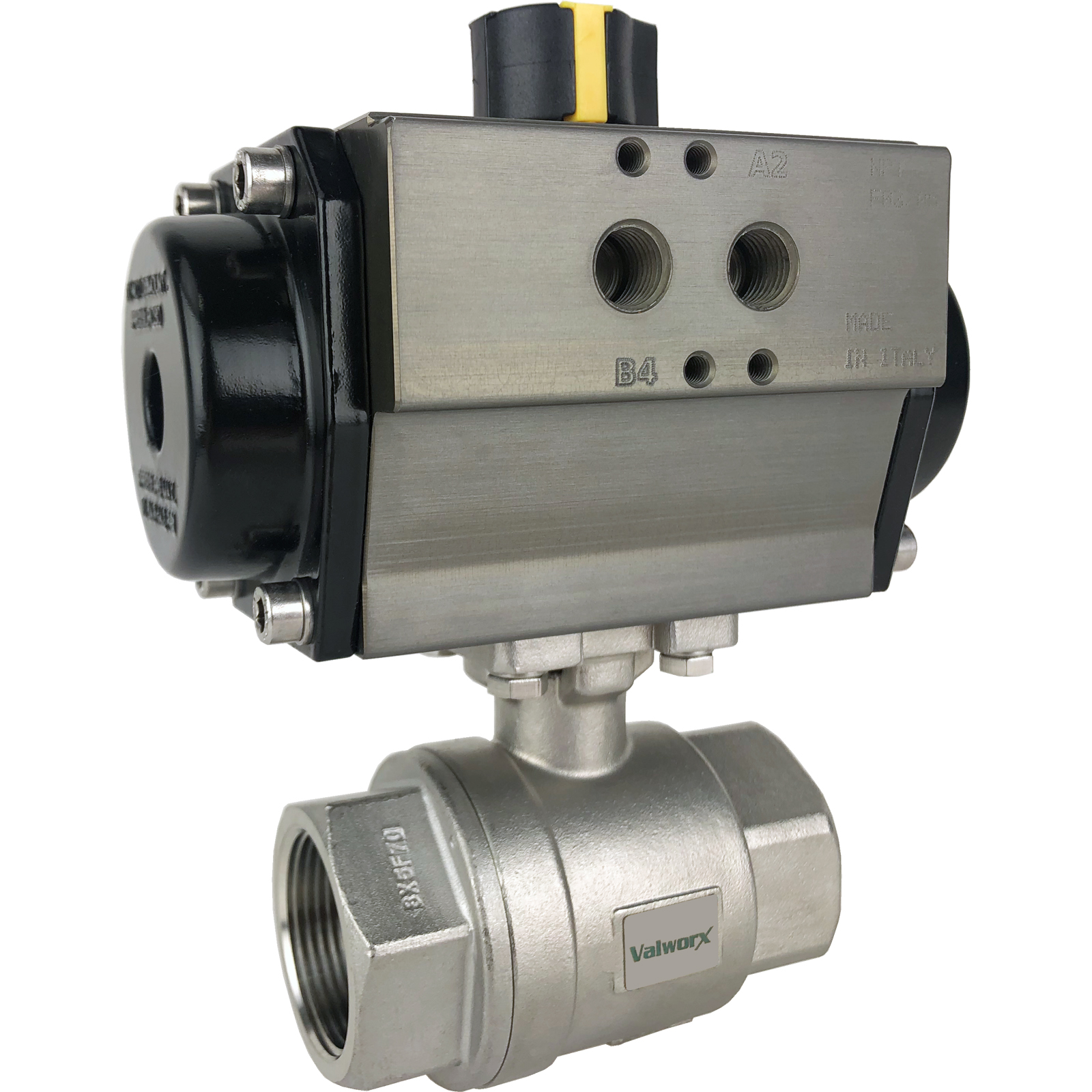 """1-1/4"""" Air Actuated SS Ball Valve - Double Acting"""