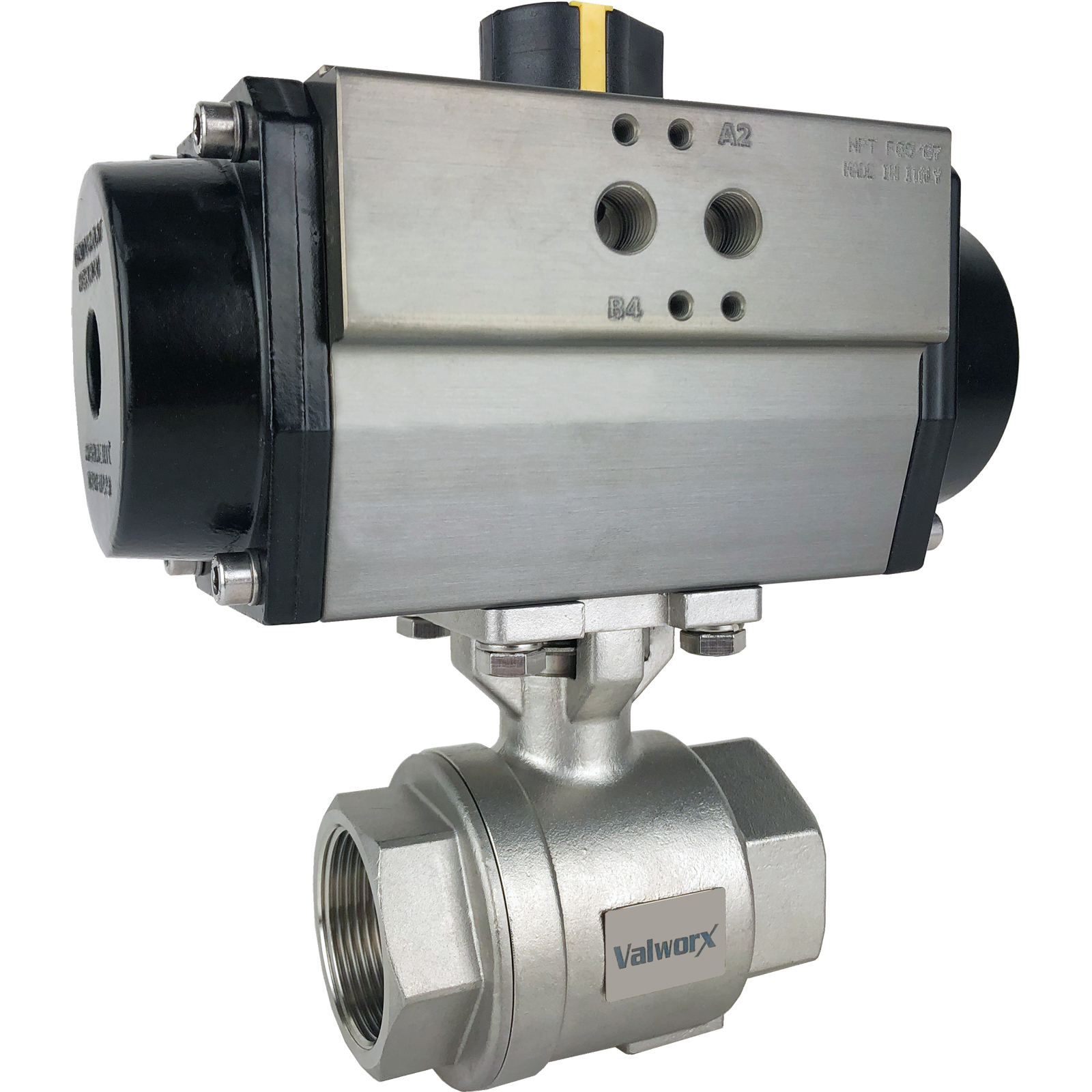 """1-1/2"""" Air Actuated Stainless Ball Valve - Double Acting"""