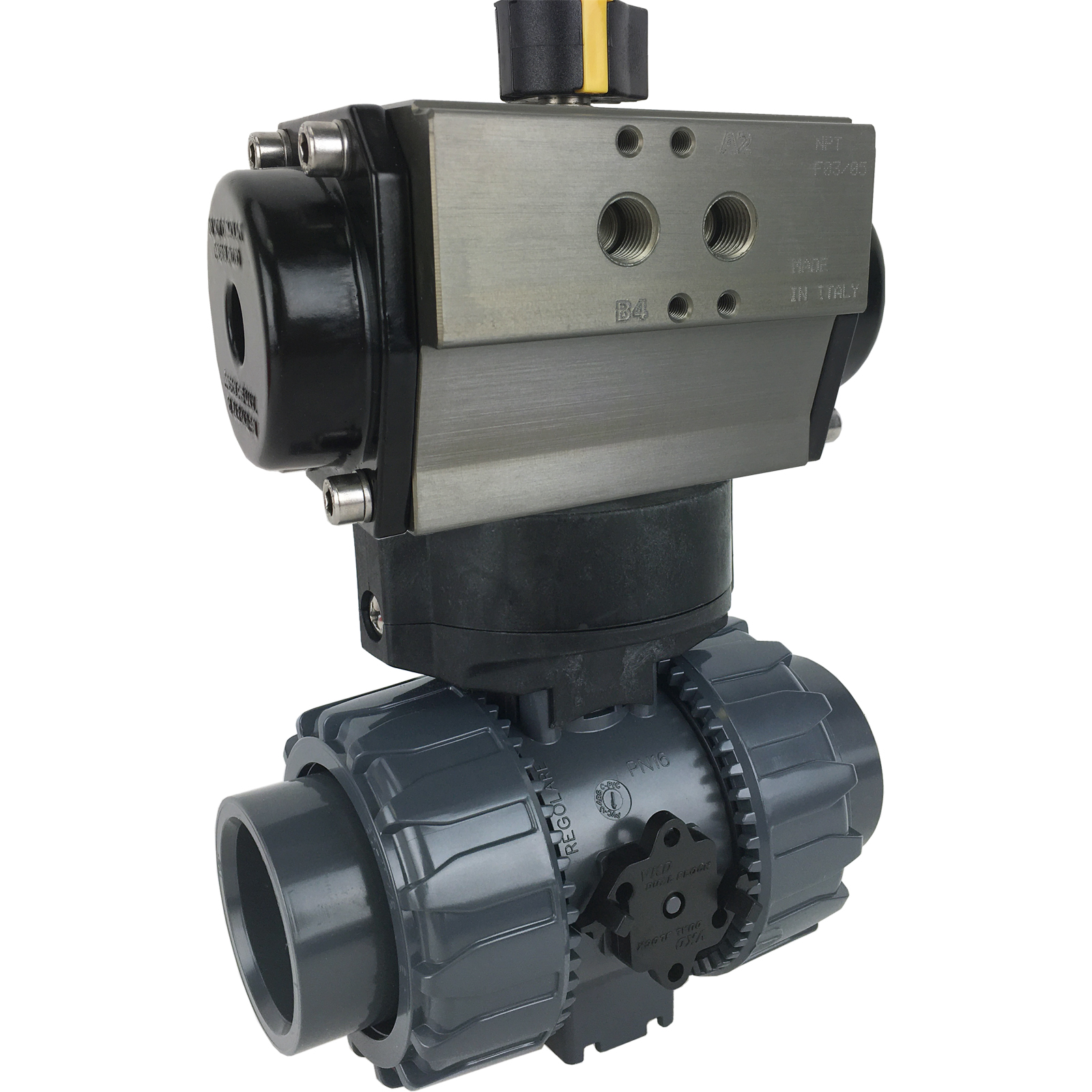 """1-1/2"""" Air Actuated PVC Ball Valve - Double Acting"""