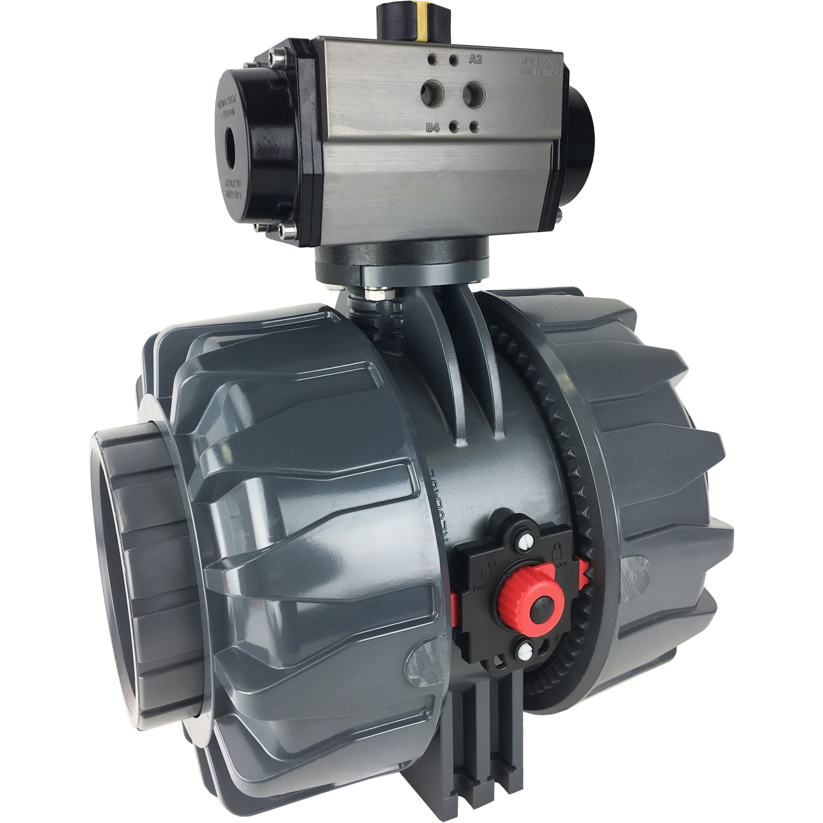 """4"""" Air Actuated PVC Ball Valve - Double Acting"""