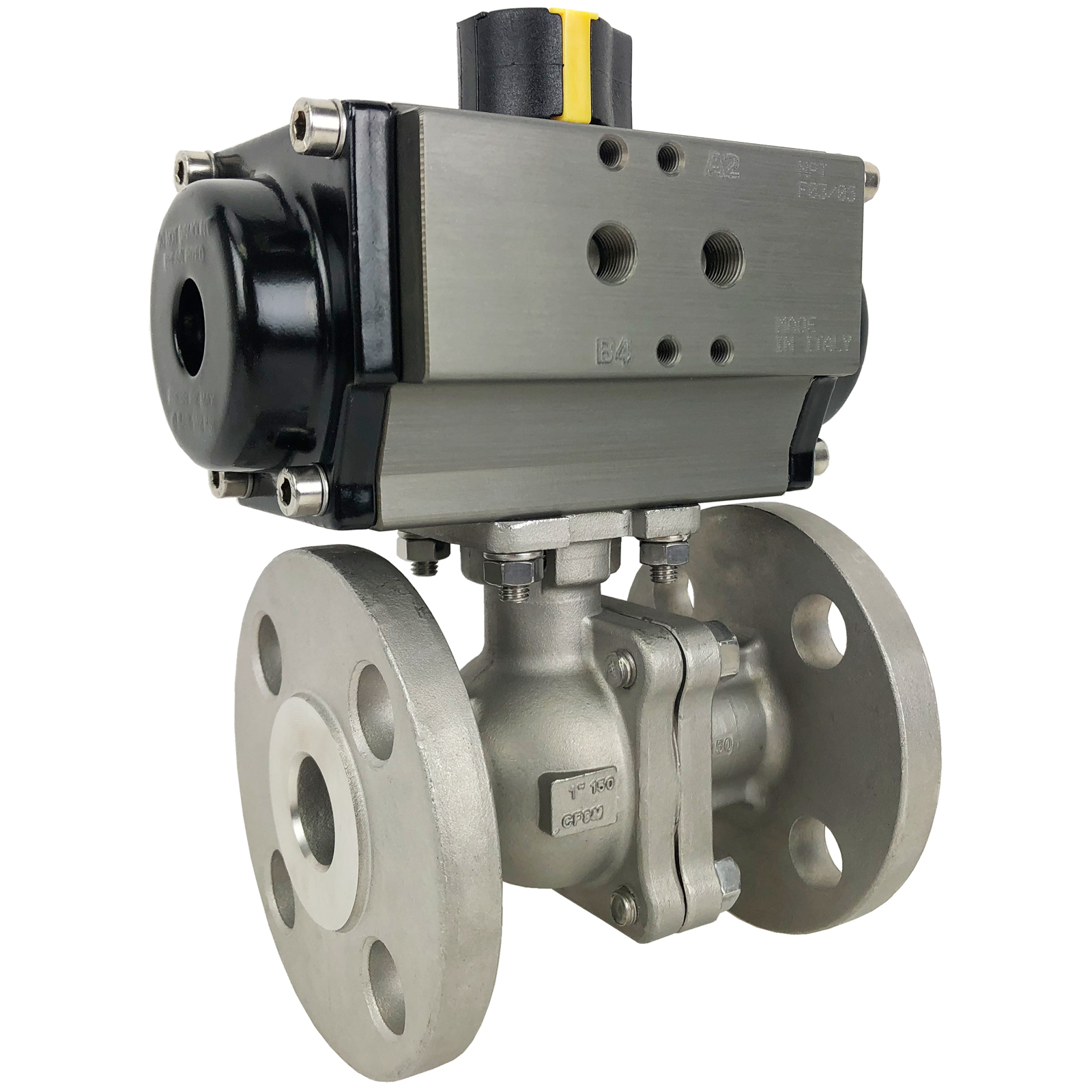 """1"""" Air Actuated 150# Flanged SS Ball Valve - Spring Return"""
