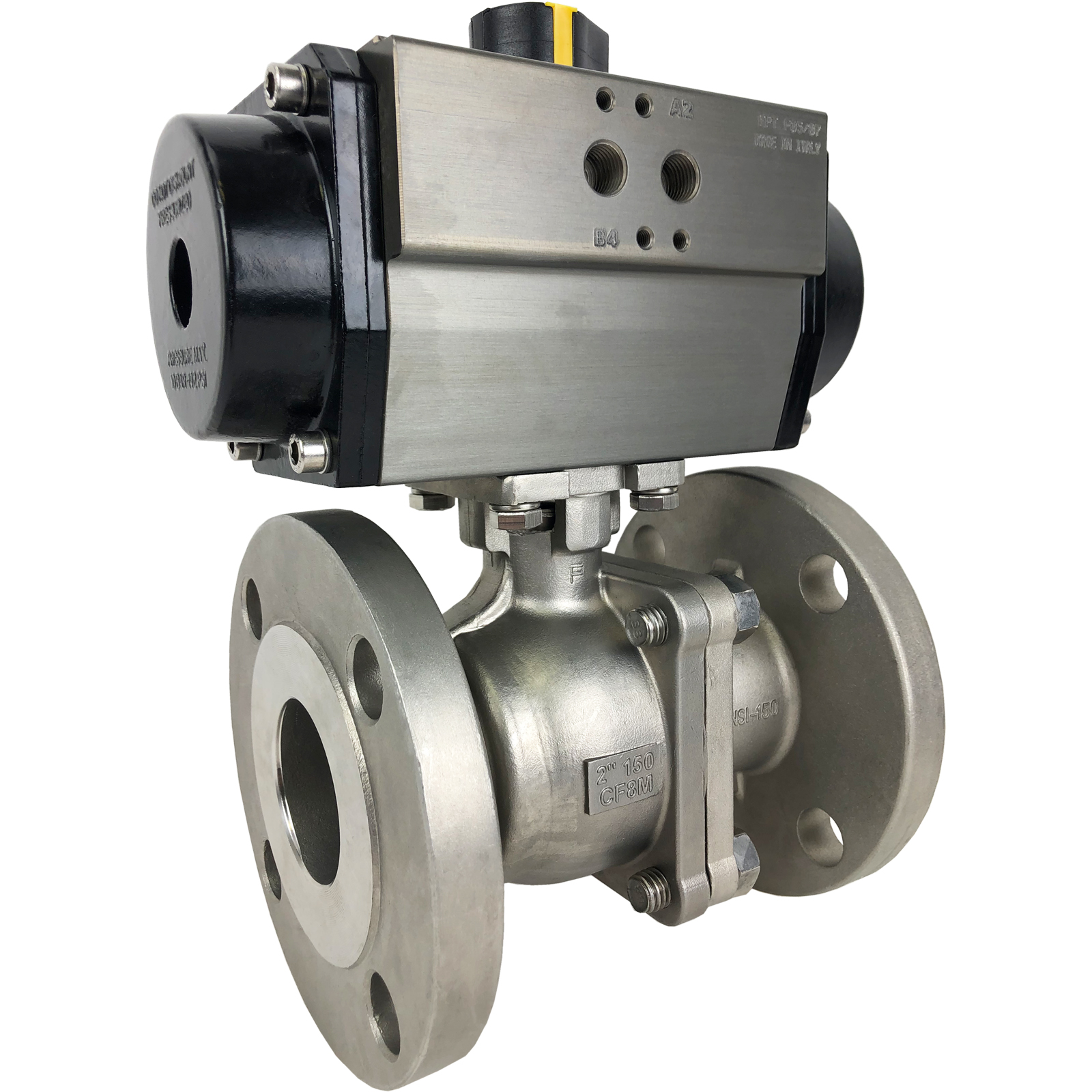"2"" Air Actuated 150# Flanged SS Ball Valve - Spring Return"