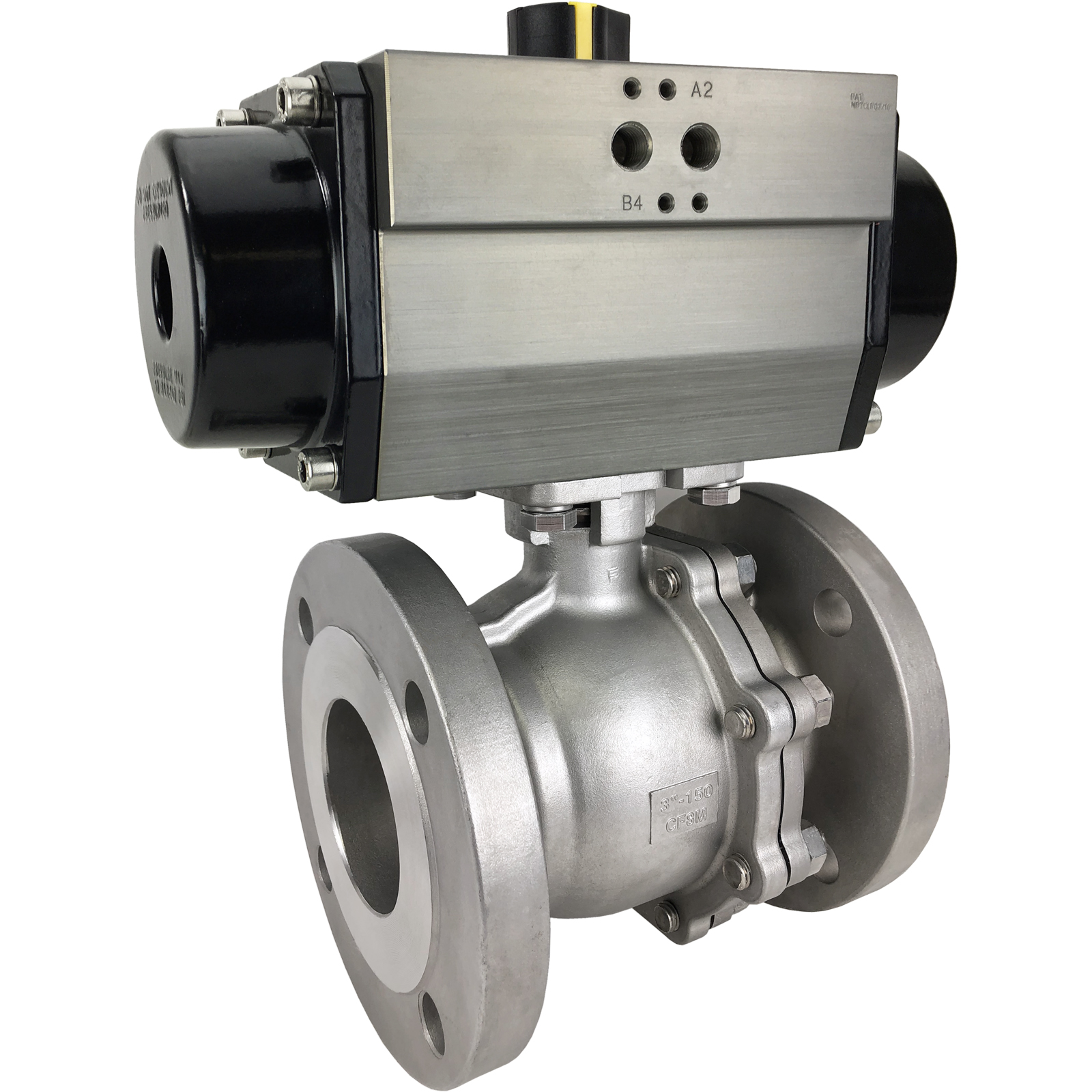 "3"" Air Actuated 150# Flanged SS Ball Valve - Spring Return"