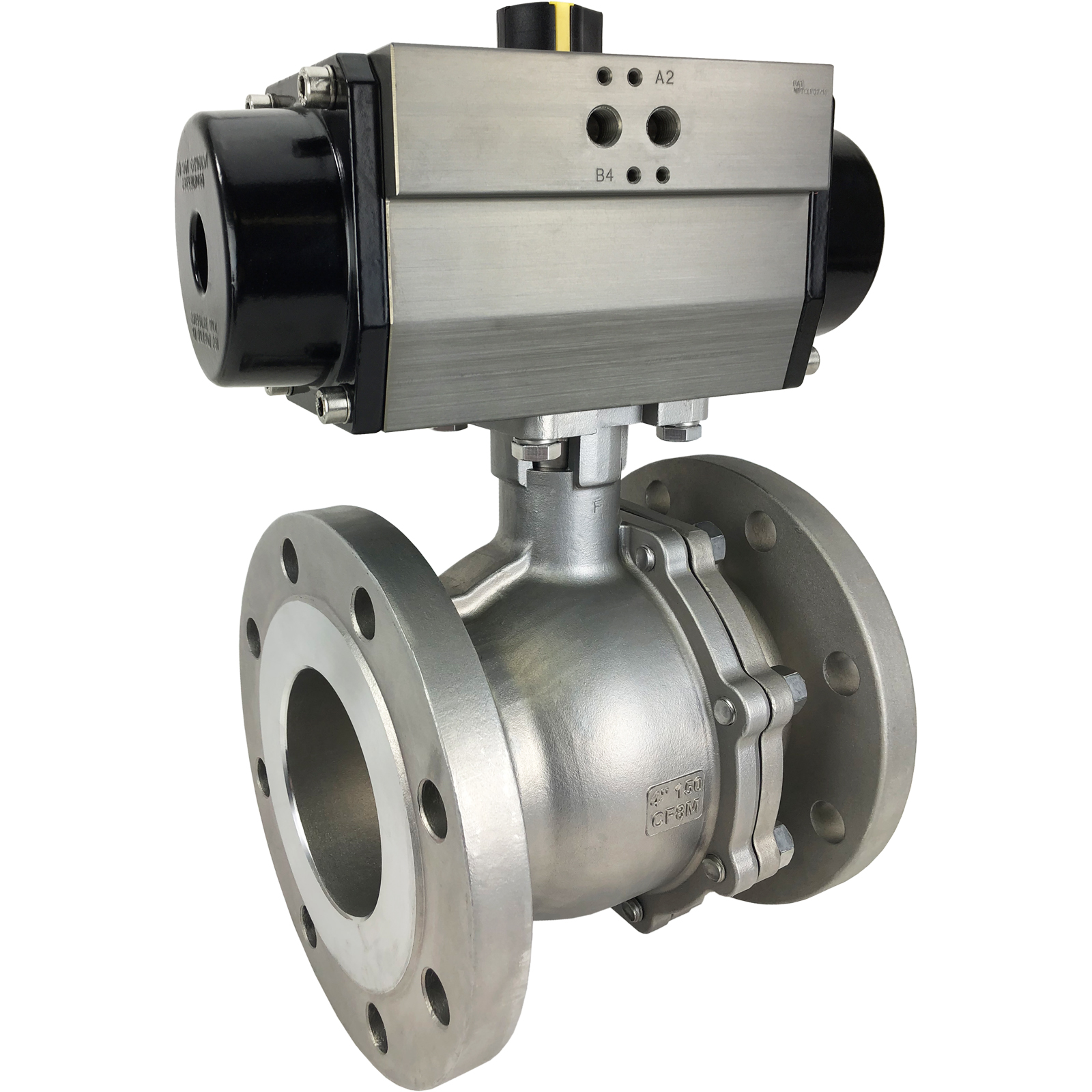 "4"" Air Actuated 150# Flanged SS Ball Valve - Spring Return"