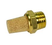 """Brass Exhaust Muffler 1/4"""" NPT"""