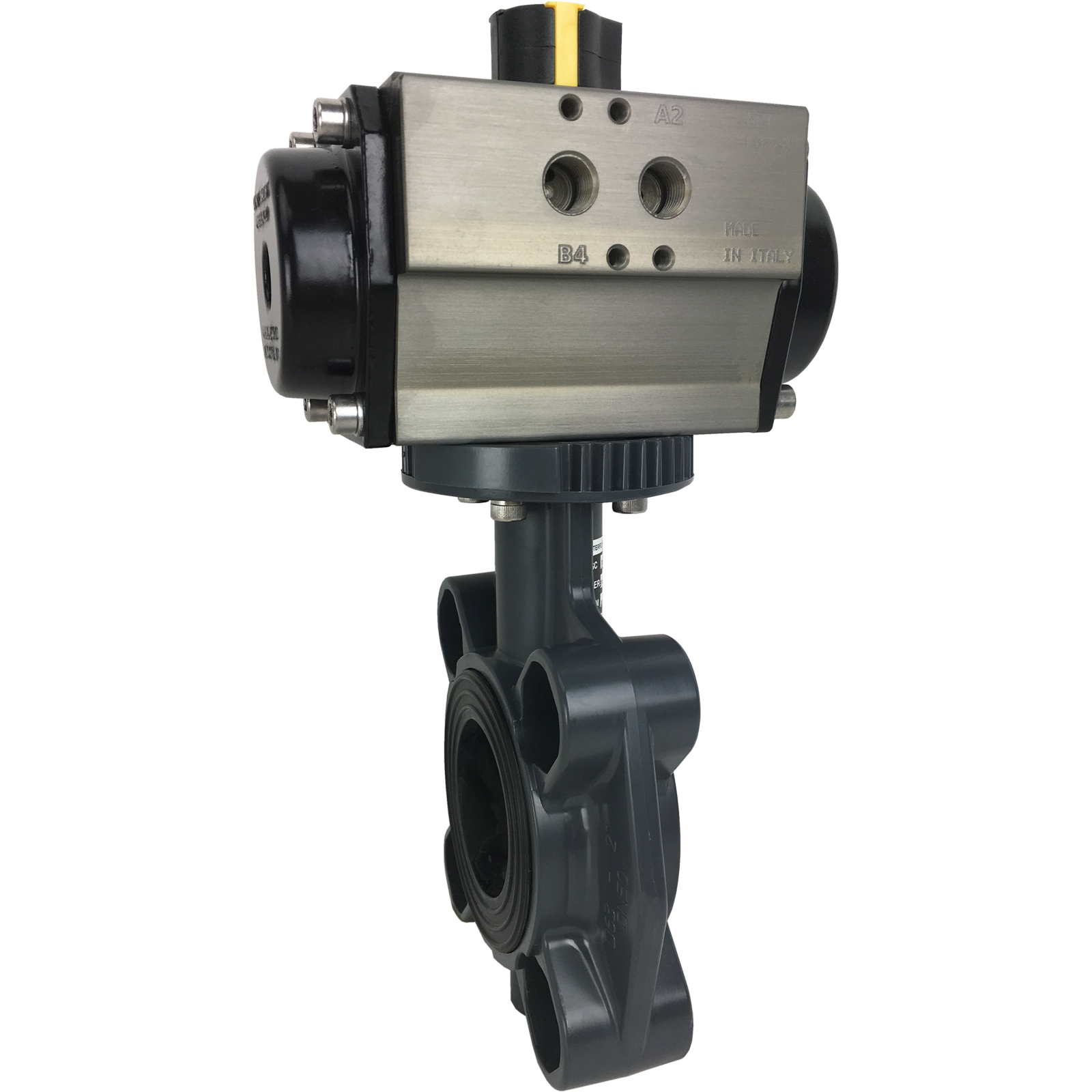 """2"""" Air Actuated PVC Butterfly Valve - Spring Return"""