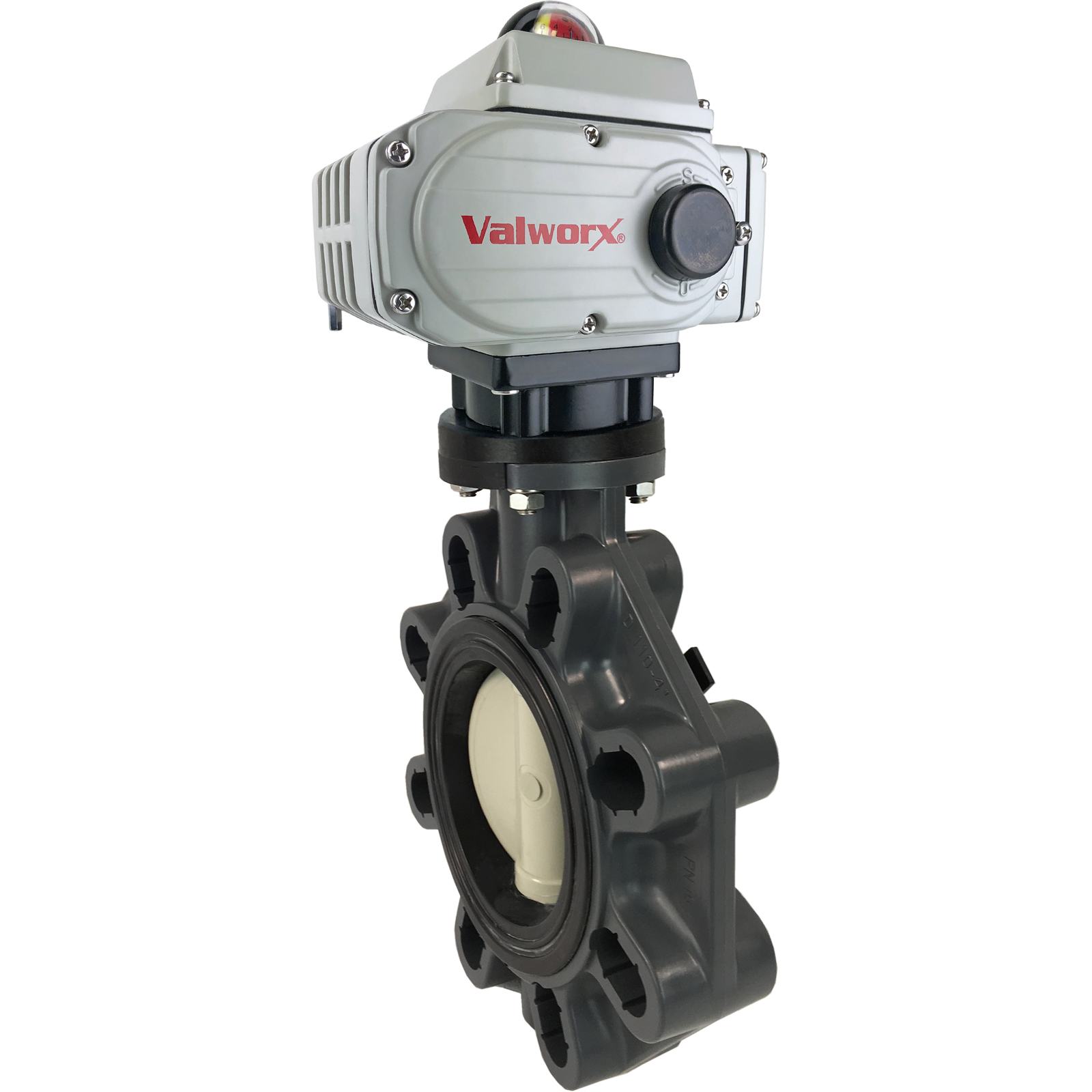"""4"""" Electric Actuated PVC Butterfly Valve 110 VAC EPS Positioner"""