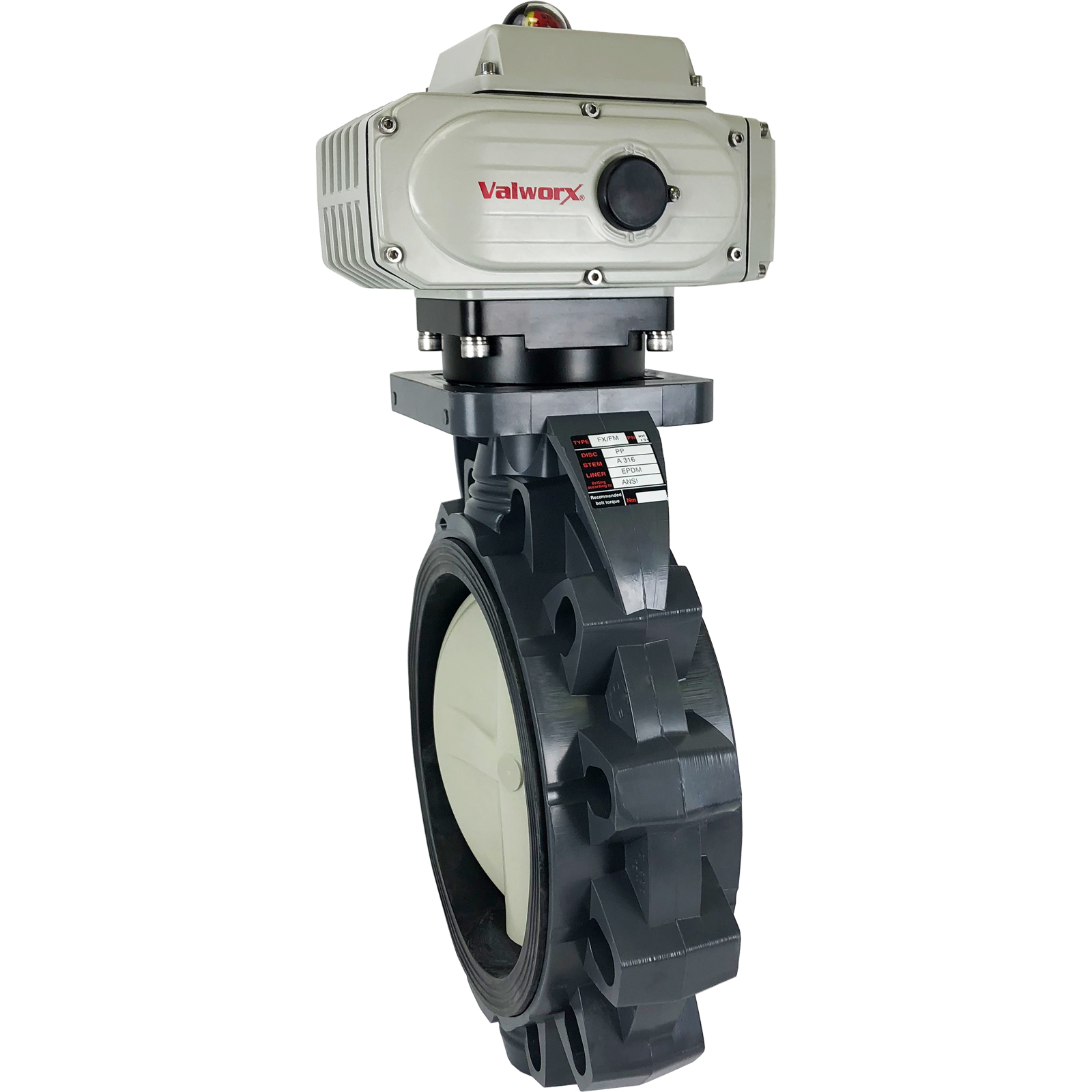 """10"""" Electric Actuated PVC Butterfly Valve 110 VAC EPS Positioner"""