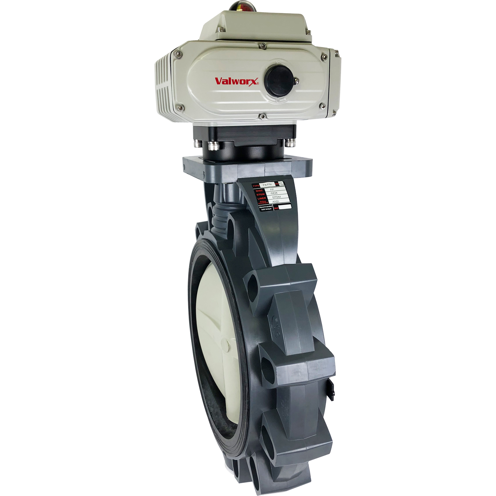 """12"""" Electric Actuated PVC Butterfly Valve 110 VAC"""