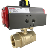 Air Actuated Brass Ball Valves- Scotch Yoke