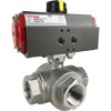 Air Actuated Stainless 3-Way Ball Valve- Scotch Yoke